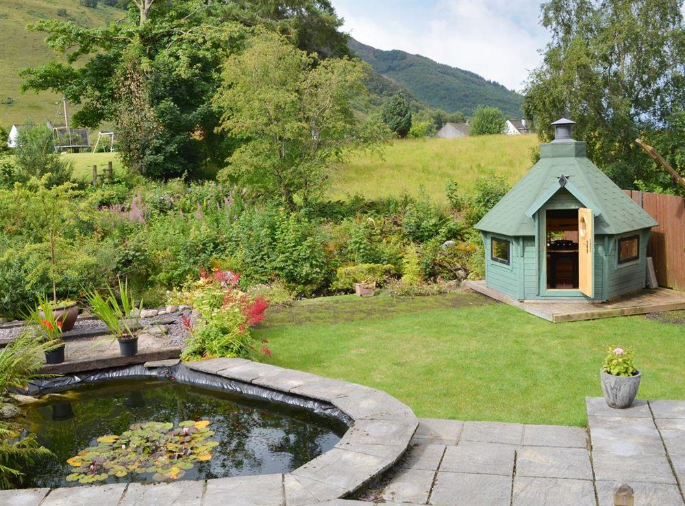 Spectacular garden and views at River Mill House in Ballachulish, near Fort William, Argyll