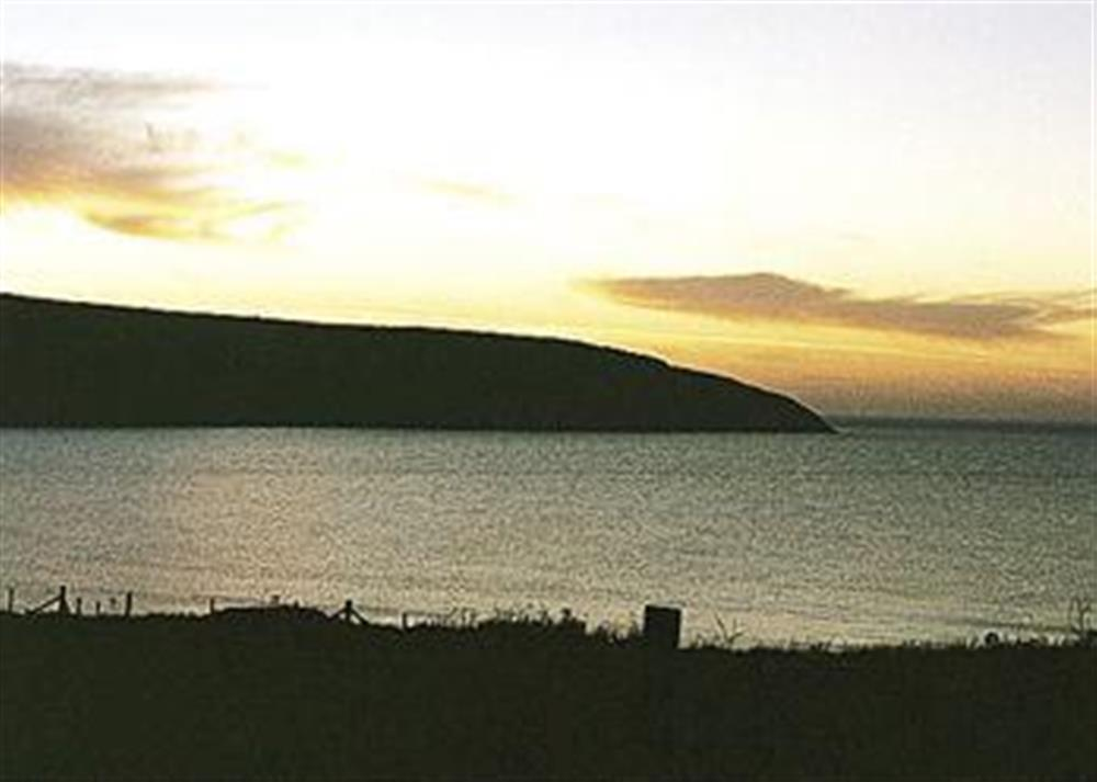 Surrounding area at Rivers Mouth in Gwbert, Cardigan Bay, Dyfed