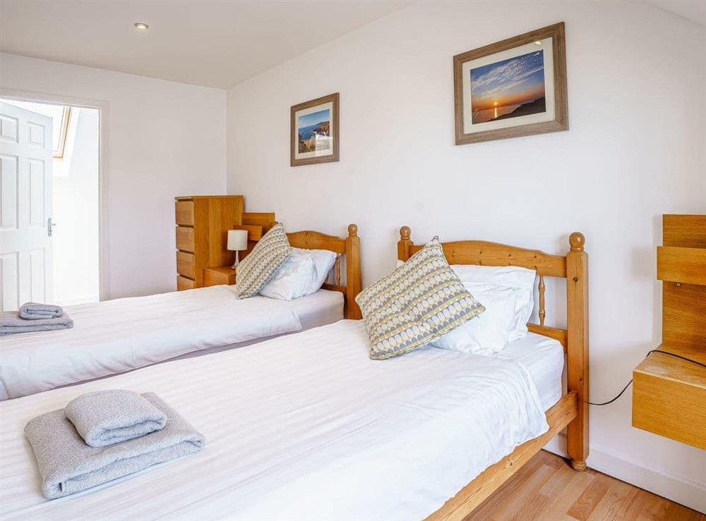 Twin bedroom at Rivers Mouth in Gwbert, Cardigan Bay, Dyfed