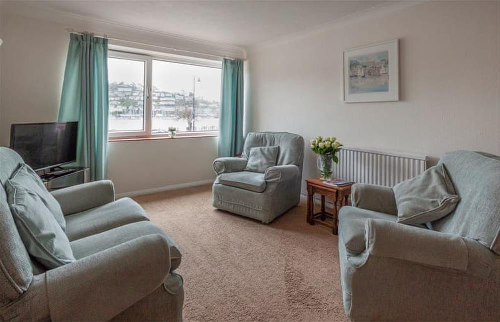 Cosy and comfortable living room at Rivers Reach in Dartmouth, Devon