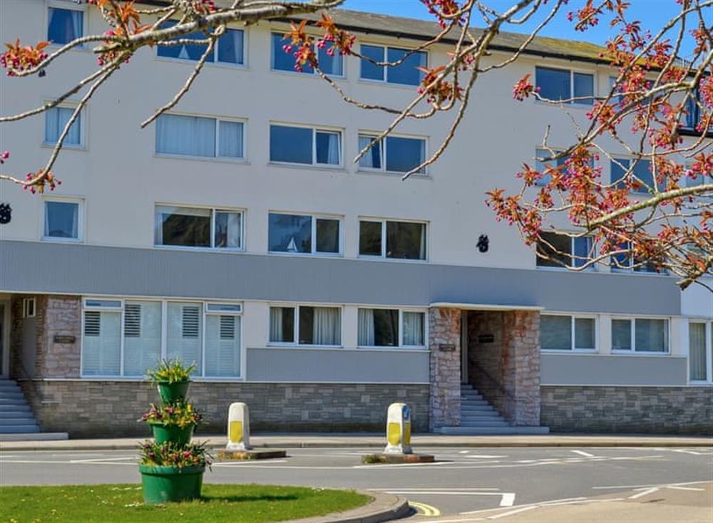 Modern apartment block at Rivers Reach in Dartmouth, Devon