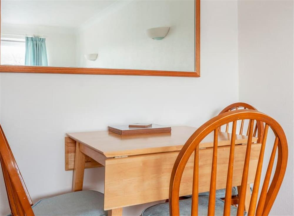 Modest dining area at Rivers Reach in Dartmouth, Devon