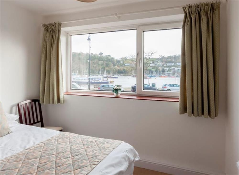 Twin bedroom with river view at Rivers Reach in Dartmouth, Devon