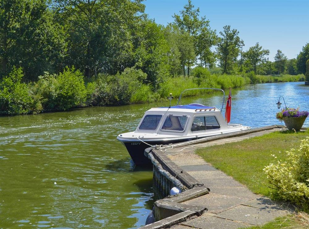 Explore the waterways by hiring the owners 8 seater private motor day launch (photo 2) at Riversdale Cottage in Irstead, near Wroxham, Norfolk
