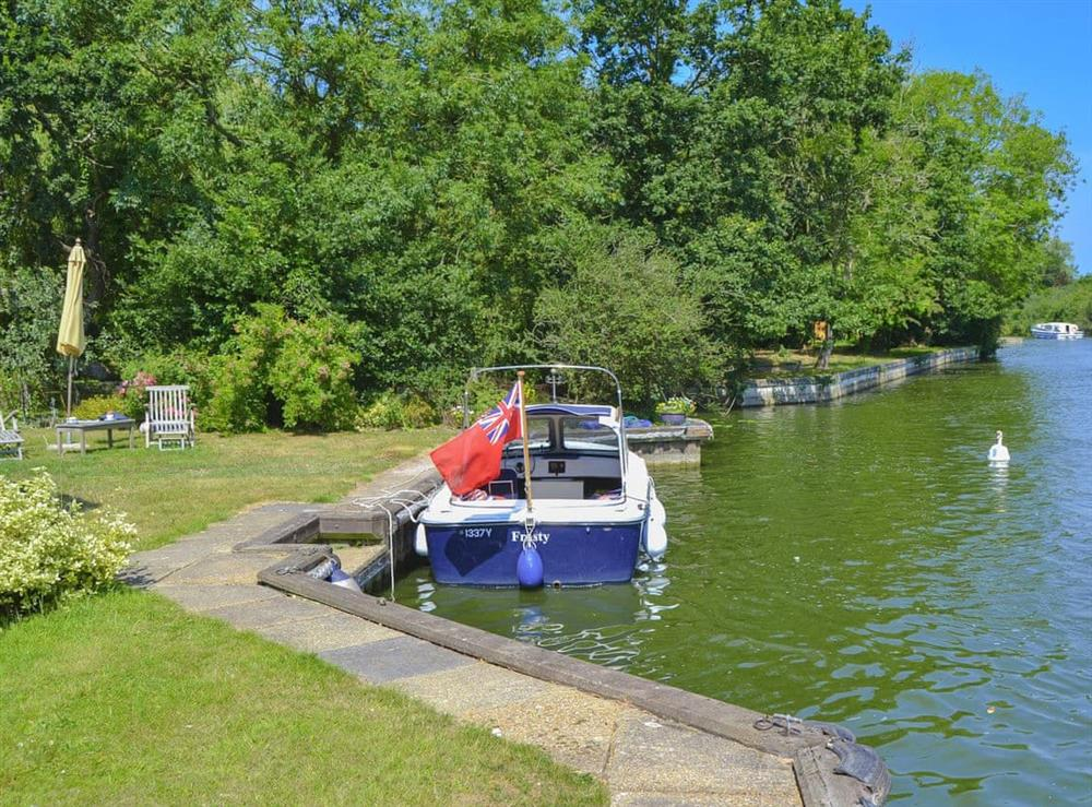 Explore the waterways by hiring the owners 8 seater private motor day launch at Riversdale Cottage in Irstead, near Wroxham, Norfolk