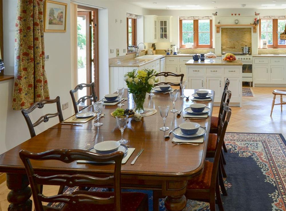 Large dining area at Riversdale Cottage in Irstead, near Wroxham, Norfolk