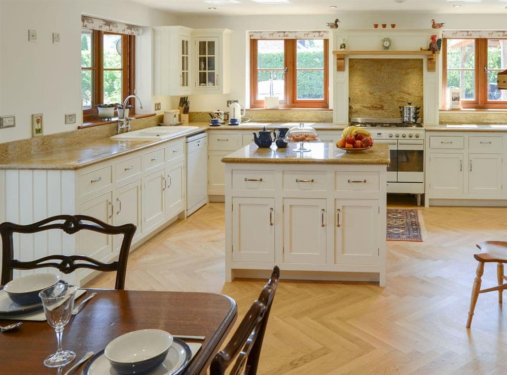 Well equipped kitchen/ dining room at Riversdale Cottage in Irstead, near Wroxham, Norfolk