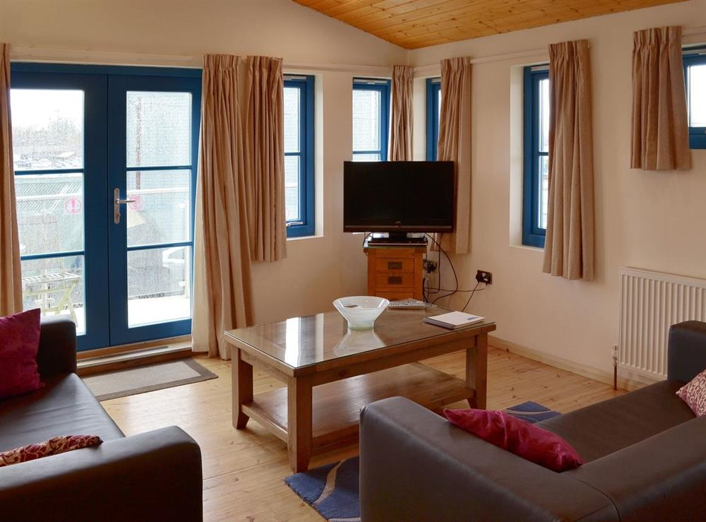 Typical open plan living/dining room/kitchen at Riversedge in Wroxham, Norwich., Norfolk