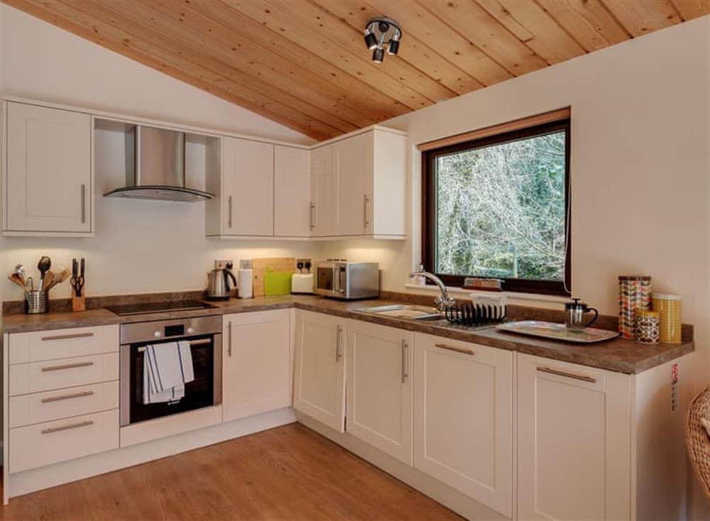 Kitchen at Riverside at Gara Mill in , Slapton