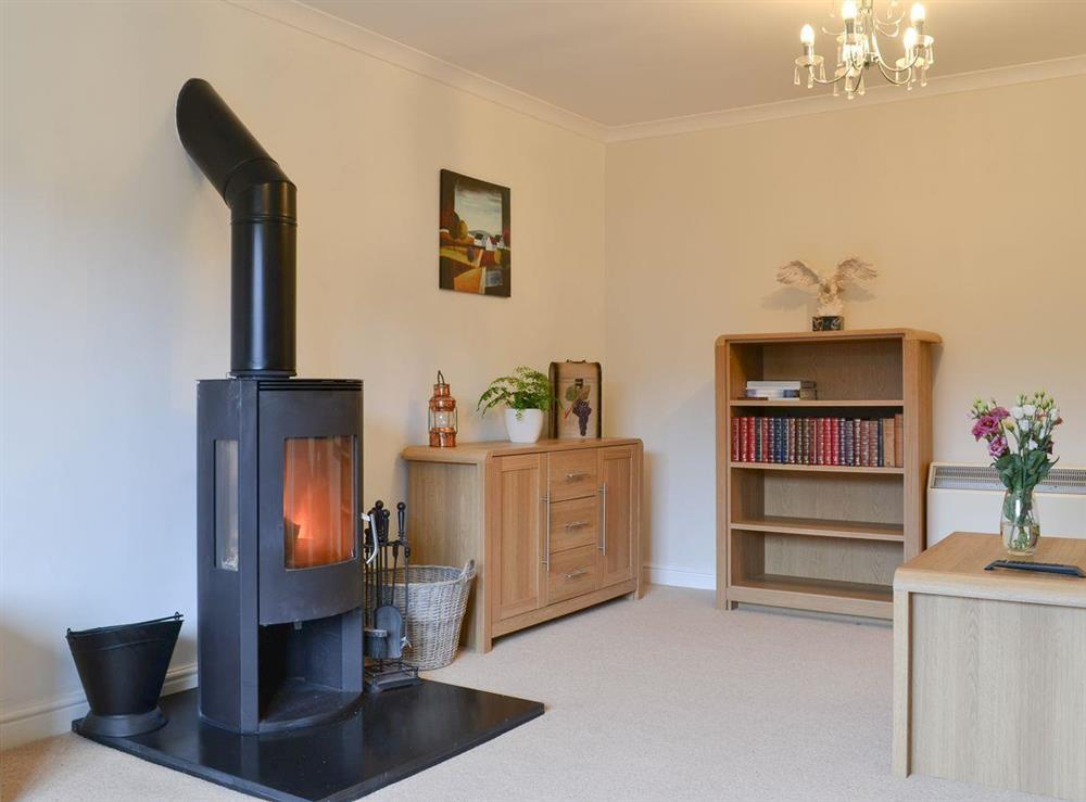 Living room with multi-fuel burner at Riverside in Kimelford, near Oban, Ayrgyll and Bute, Argyll