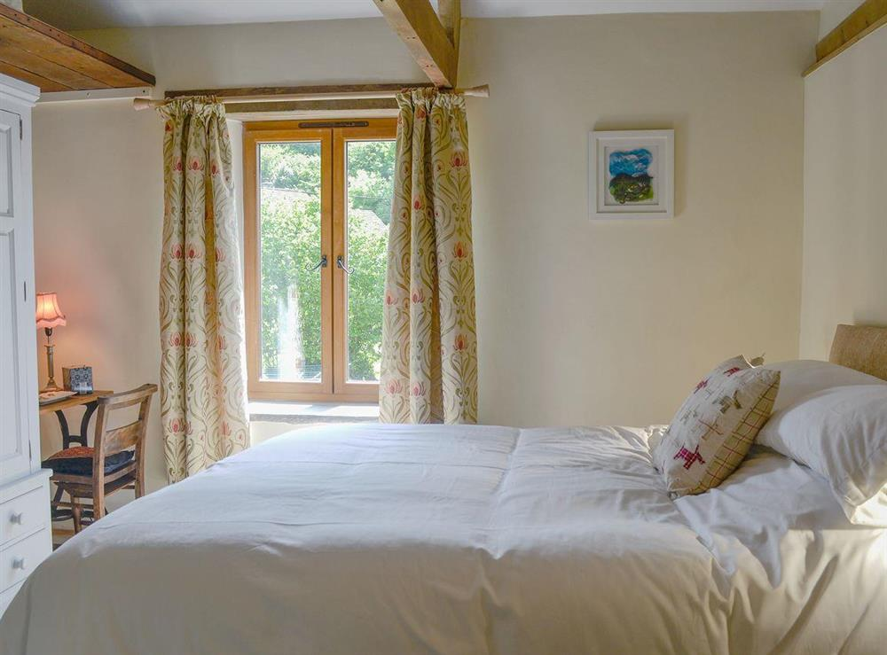 Comfortable double bedroom at Rock Bottom in Milton Combe, near Yelverton, Devon
