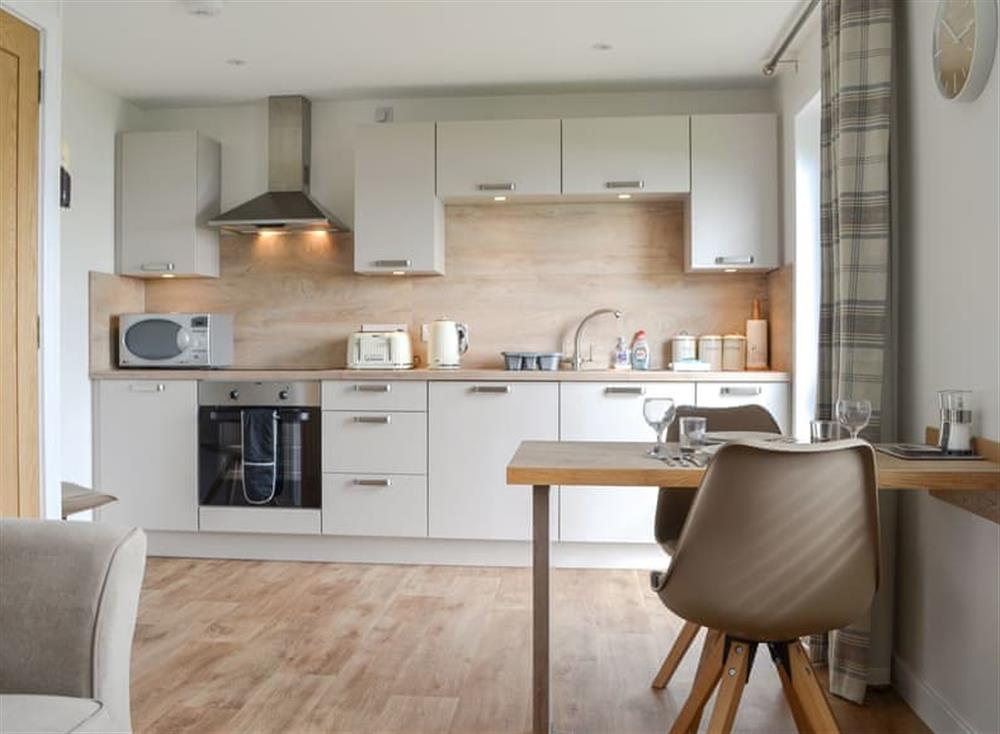 Well presented open plan living space at Rockworks Chalets No. 5,