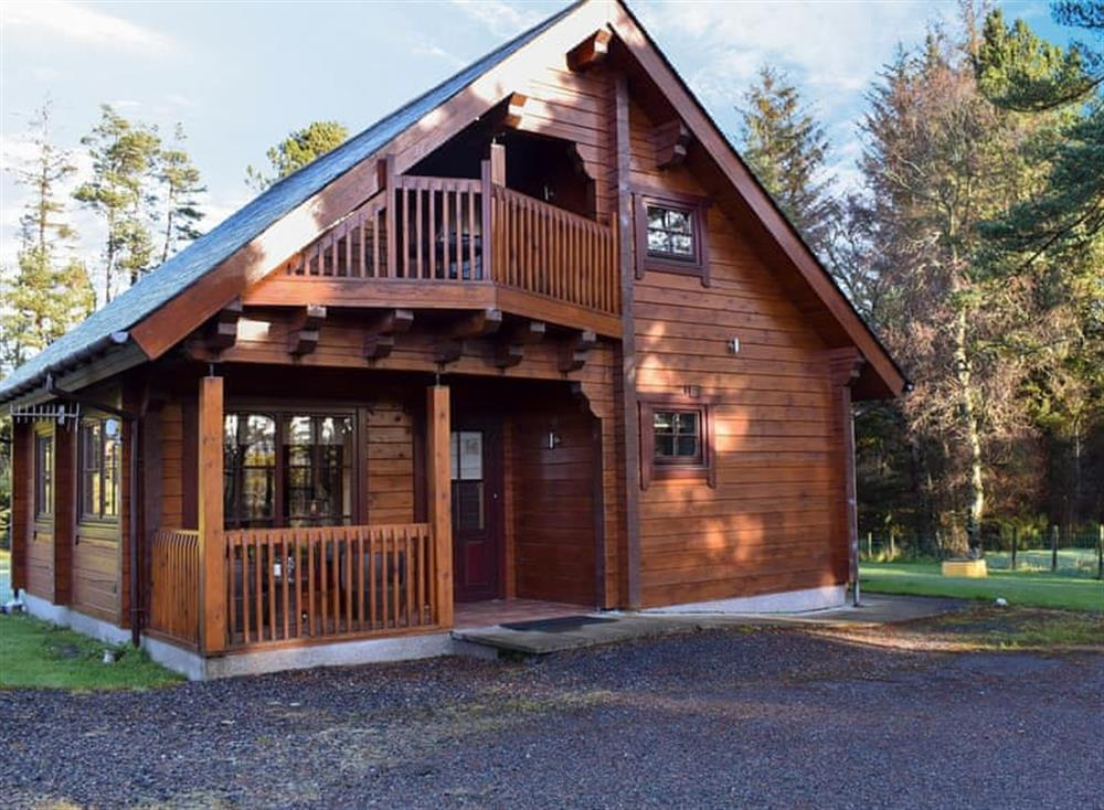 Lovely, traditional log cabin at Roe Deer Log Cabin in Mulben, near Keith, Moray, Banffshire