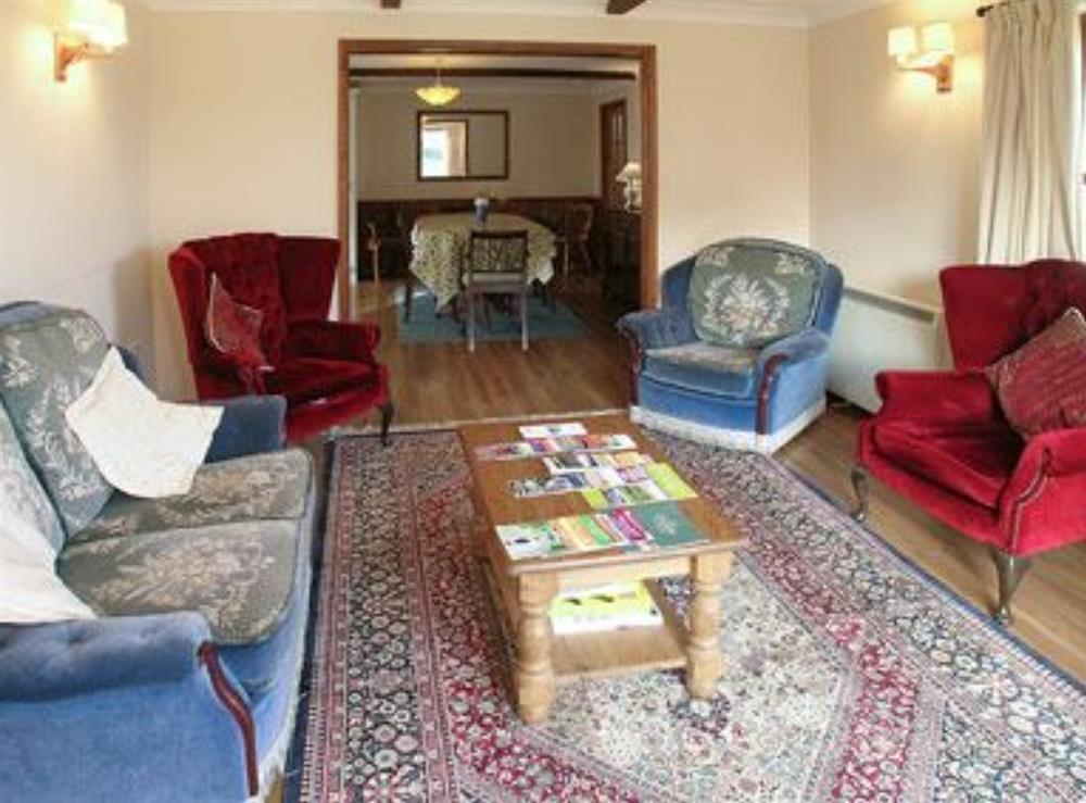 Living room at Ronaldo in Margaret Marsh, Dorset