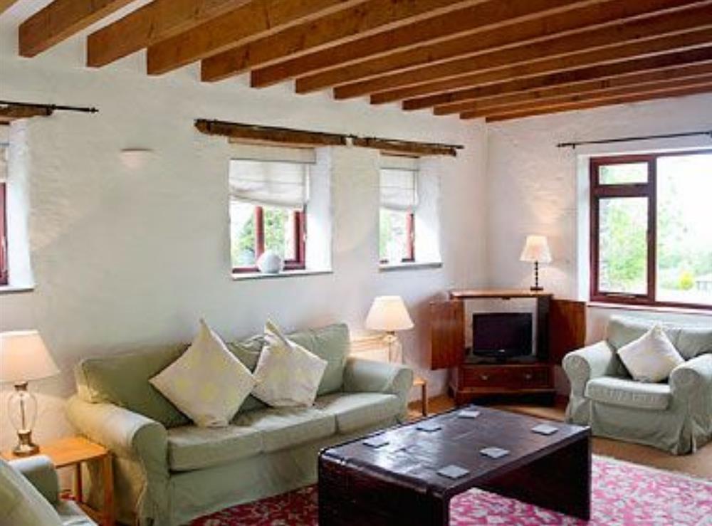 Living room at Rose Barn in Llangoedmor, Nr Cardigan, Dyfed., Great Britain