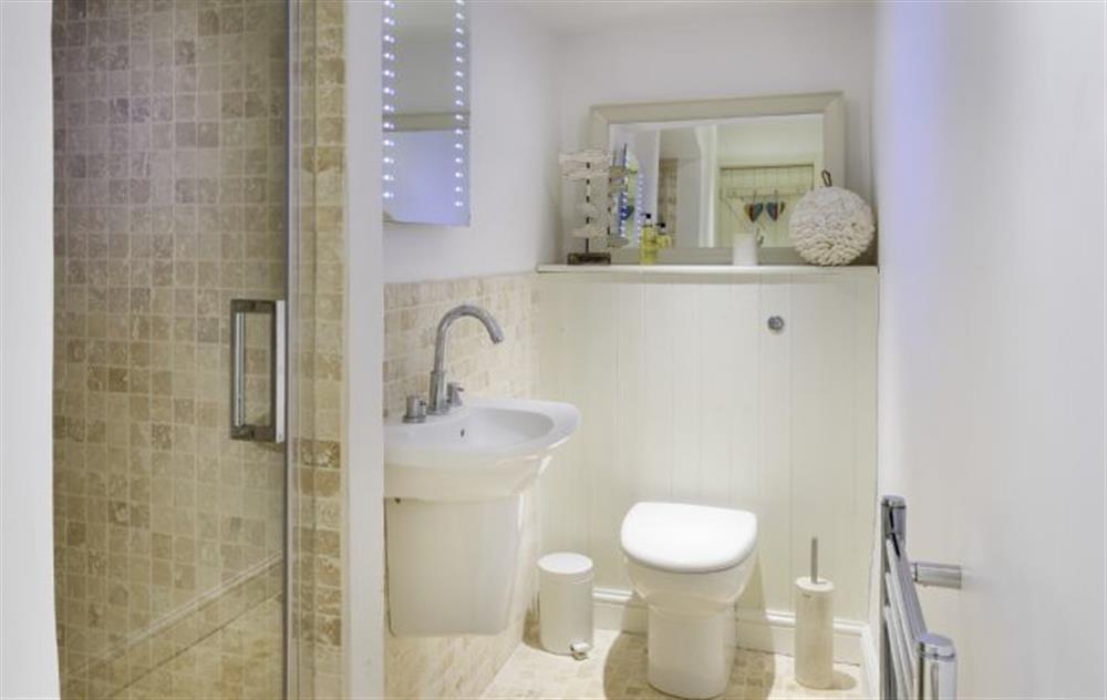 First Floor: En-suite shower room at Rose Cottage, Ashprington