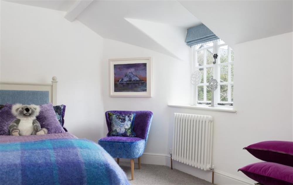 First Floor: Light and airy single bedroom at Rose Cottage, Ashprington