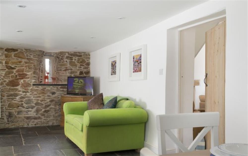 Ground Floor: Dining area leading to pretty rear patio terrace (photo 2) at Rose Cottage, Ashprington