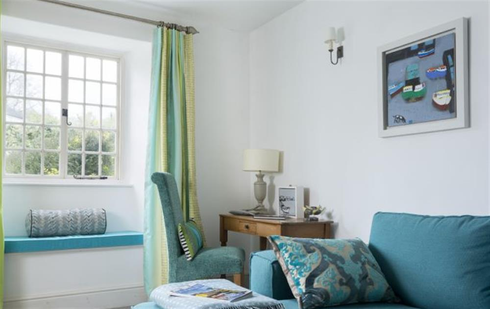 Ground Floor: Family room with view to the garden at Rose Cottage, Ashprington