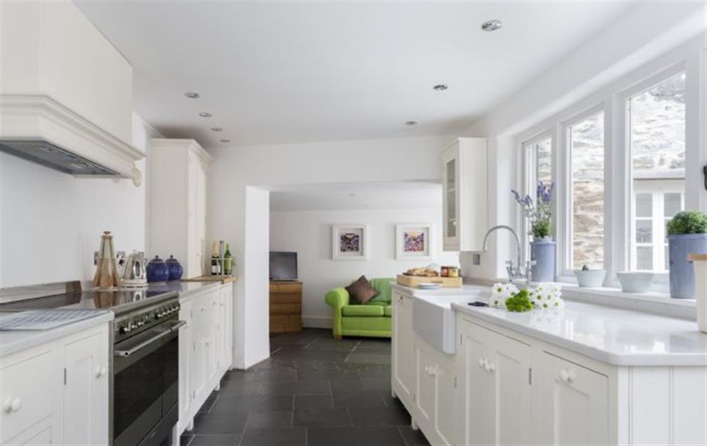 Ground Floor: Open plan kitchen/dining room at Rose Cottage, Ashprington