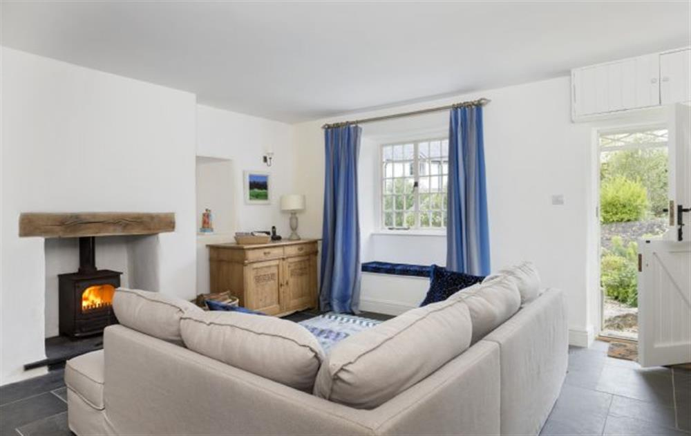 Ground Floor: Sitting room with views to the church at Rose Cottage, Ashprington