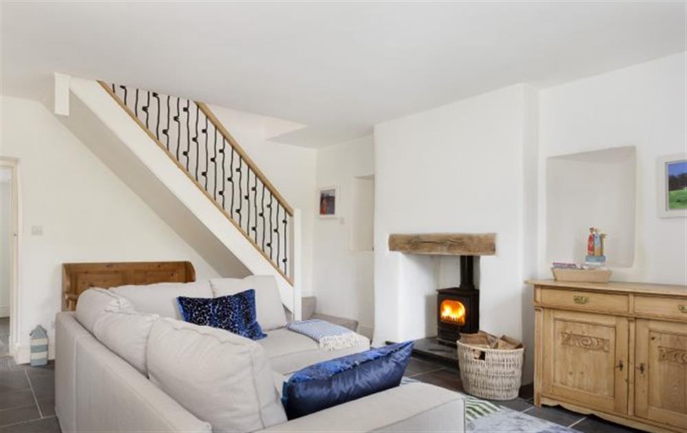 Ground Floor:  Sitting room with wood burning stove at Rose Cottage, Ashprington