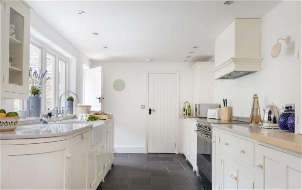Ground Floor: Stunning well equipped kitchen at Rose Cottage, Ashprington