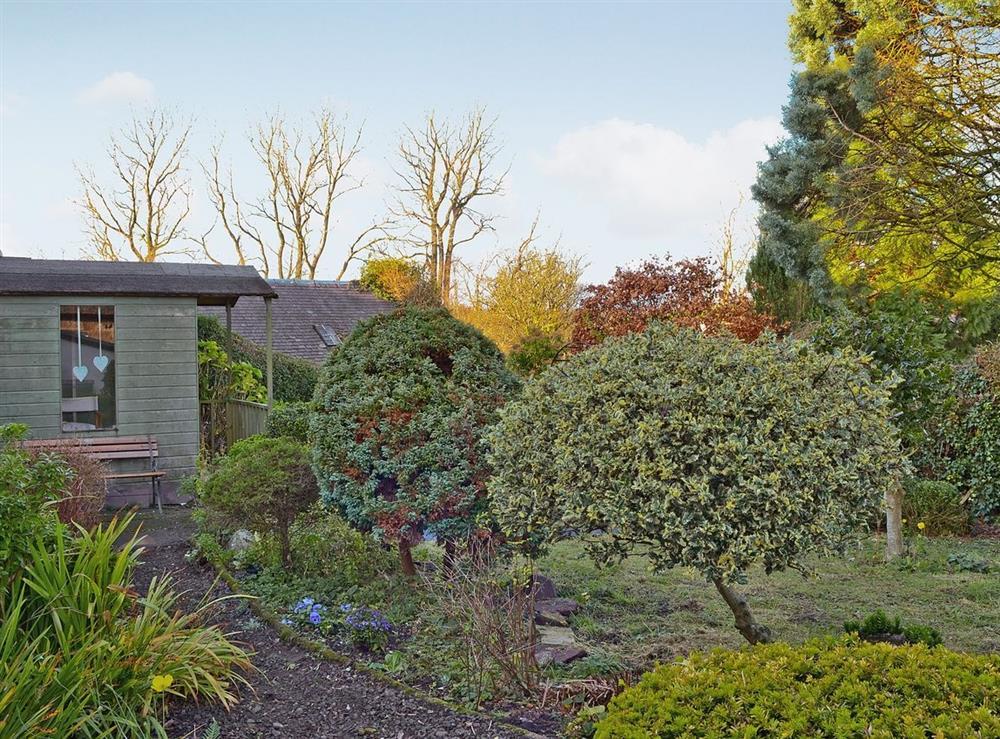 Garden at Rosebud in Straiton, near Maybole, Ayrshire