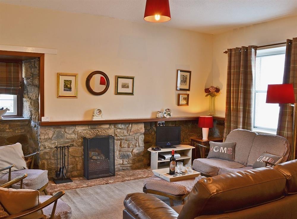 Living room at Rosebud in Straiton, near Maybole, Ayrshire