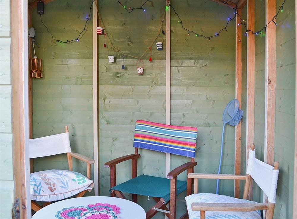 Sitting-out-area at Rosebud in Straiton, near Maybole, Ayrshire