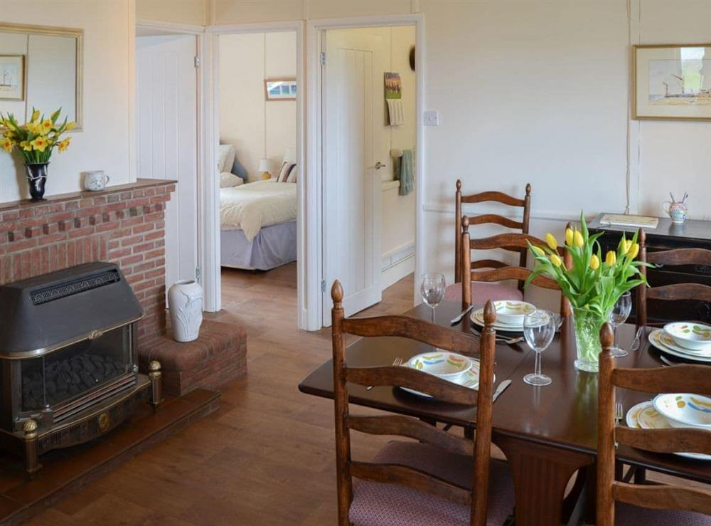 Dining Area at Rosemary's Sea View in Bacton, Norfolk