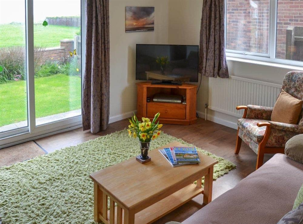 Living room at Rosemary's Sea View in Bacton, Norfolk