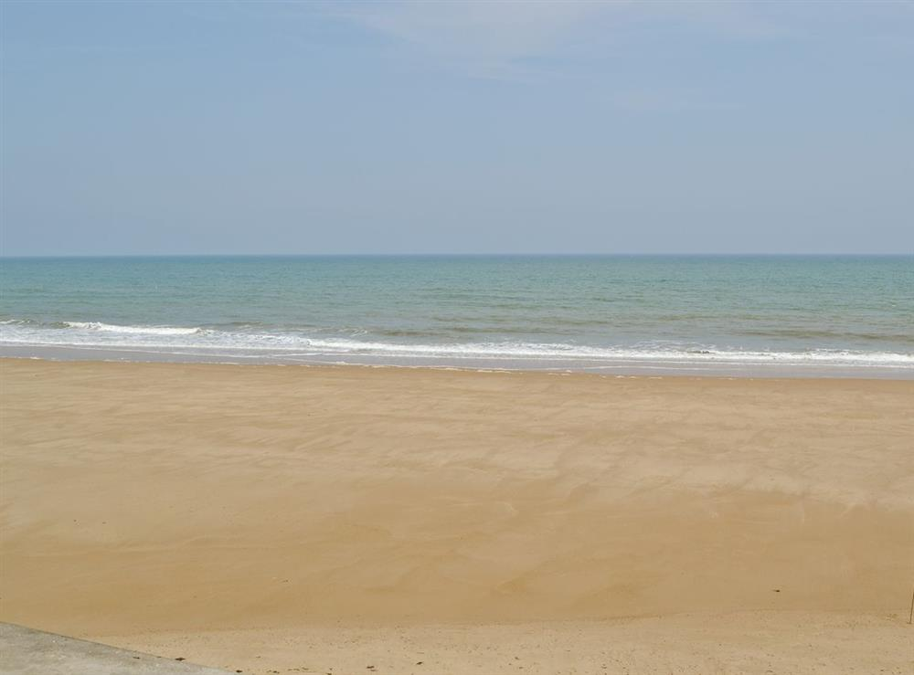 Local beach at Rosemary's Sea View in Bacton, Norfolk