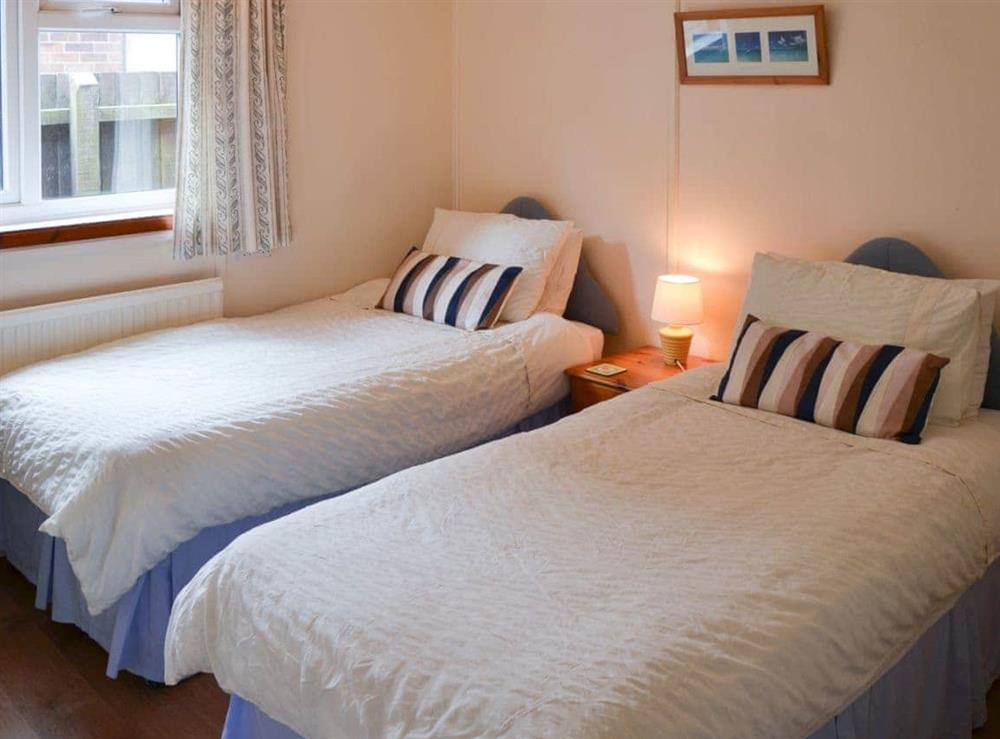 Twin bedroom at Rosemary's Sea View in Bacton, Norfolk