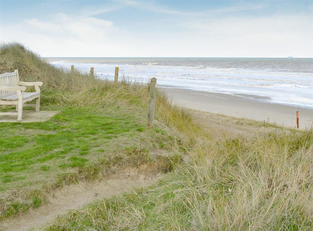 Beach at Roses Place in Bacton, Norfolk