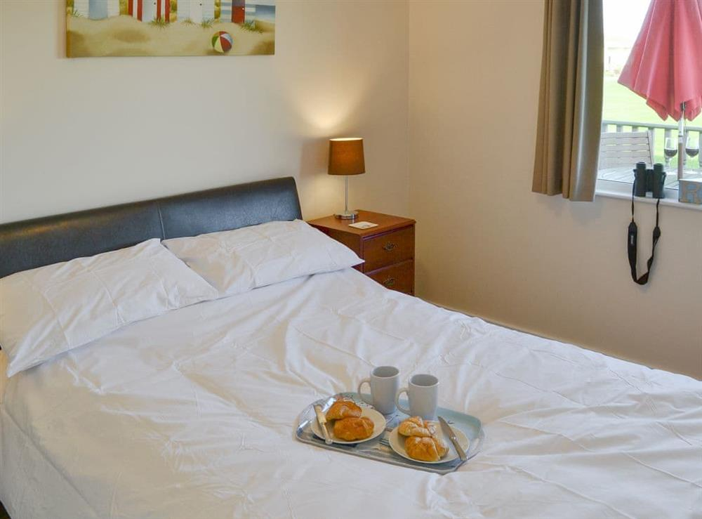 Comfortable double bedroom at Roses Place in Bacton, Norfolk