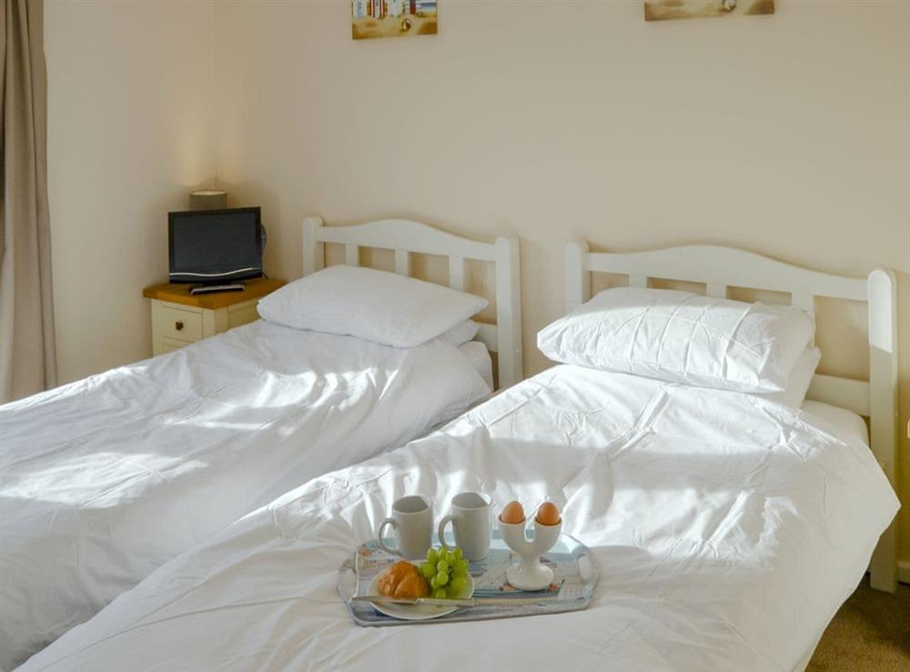 Comfy twin bedroom at Roses Place in Bacton, Norfolk