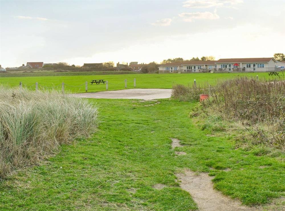 Pathway to the beach at Roses Place in Bacton, Norfolk