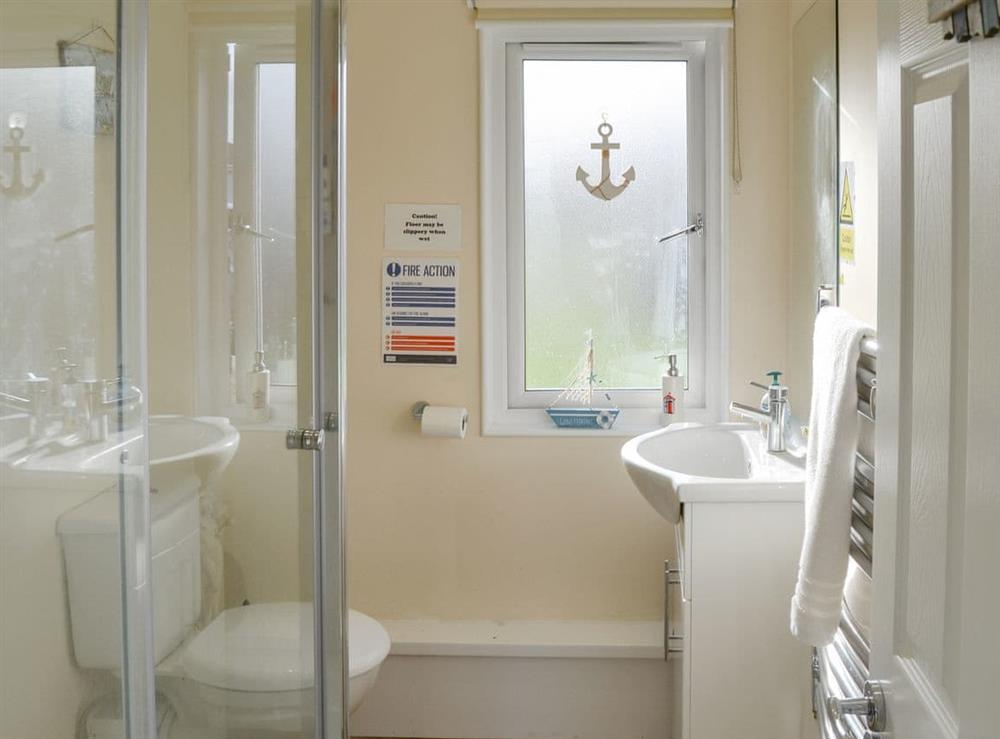 Shower room at Roses Place in Bacton, Norfolk