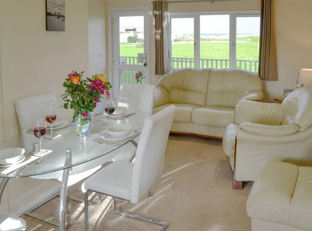 Well presented open plan living space at Roses Place in Bacton, Norfolk
