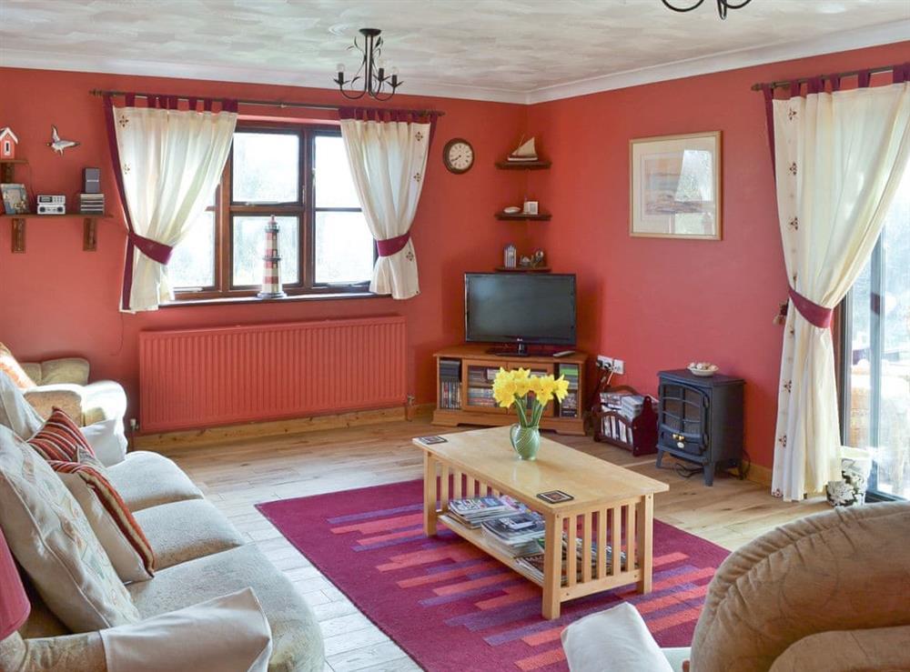Living room at Rothiemay in Walcott, Norfolk