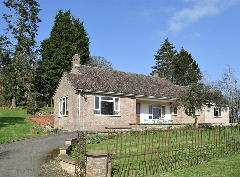 Detached bungalow at Roundhill in near Chipping Warden, Northamptonshire, England