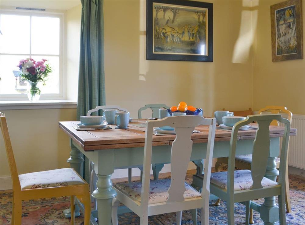 Delightful shabby-chic dining area at Rowan House in Ardgay, near Dornoch, Ross-Shire