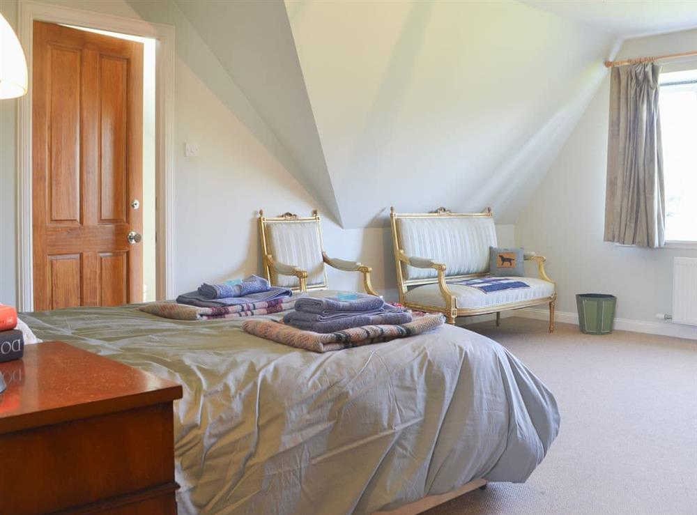 Welcoming double bedroom at Rowan House in Ardgay, near Dornoch, Ross-Shire