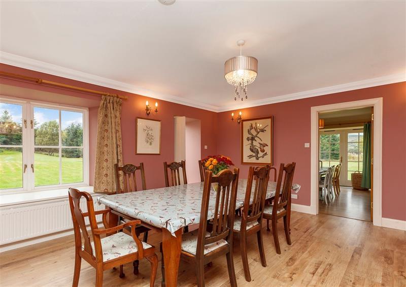 Dining room at Rowan House, Bonar Bridge