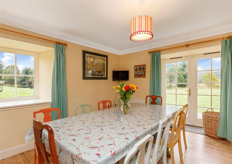The dining area at Rowan House, Bonar Bridge