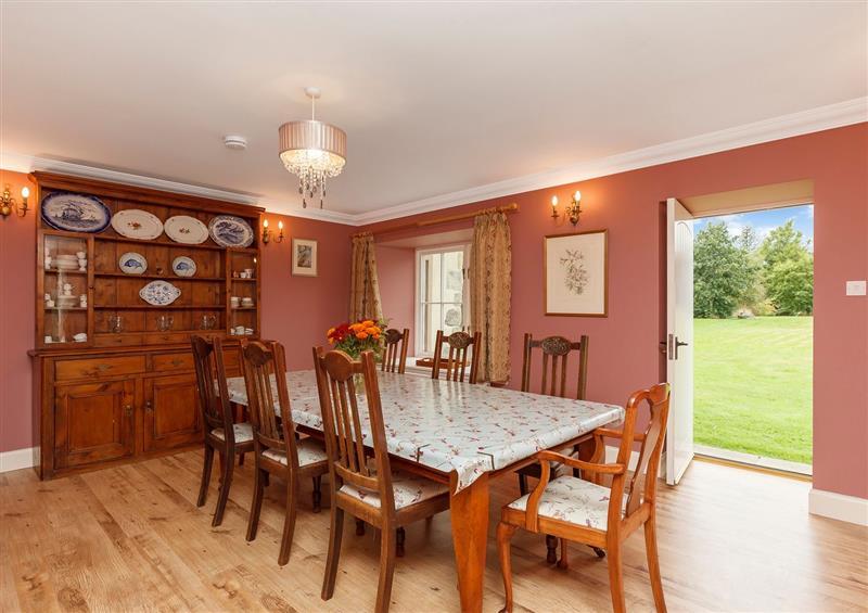 This is the dining room at Rowan House, Bonar Bridge