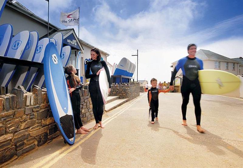 Surf shop at Ruda in Devon, South West of England