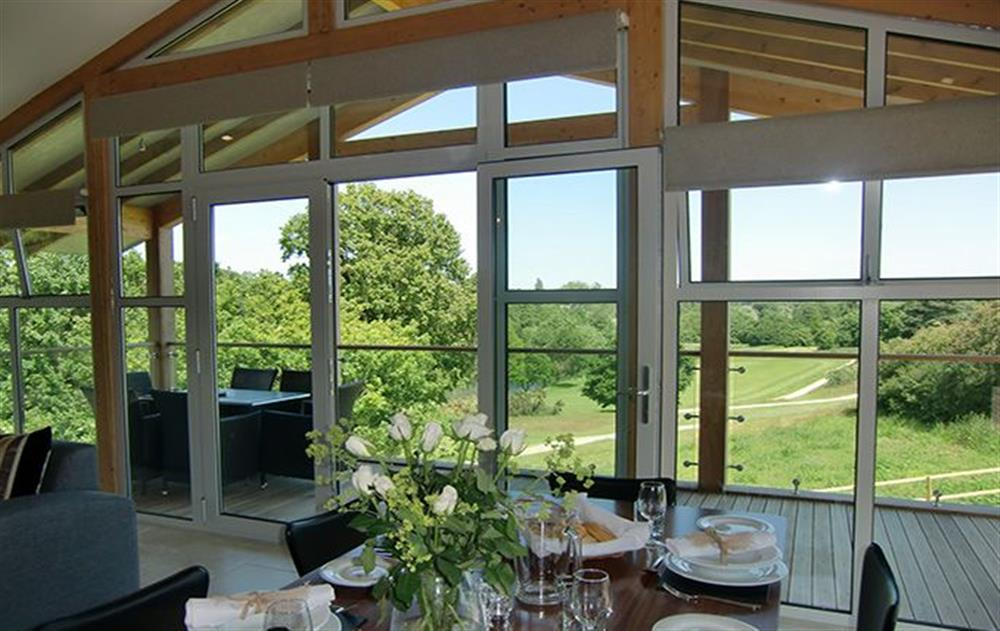 Stunning views from the lodges at Russet Bramley, Stoke by Nayland