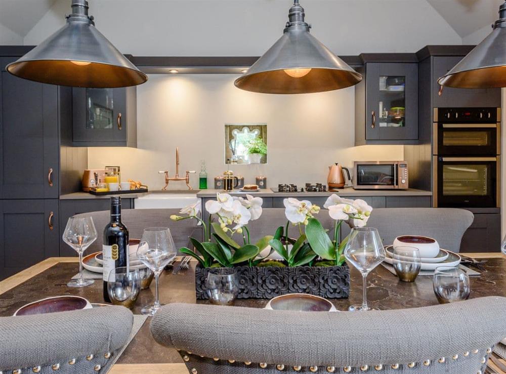 Elegant dining area at Deer View Cottage,